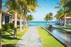 Szenische Ansicht des tropischen Erholungsortes in Vietnam. lizenzfreie stockfotos