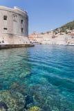 Szenische Ansicht Dubrovniks der Stadt ` s Gebäude stockbilder