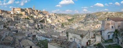 Szenische Ansicht Matera von Sasso Caveoso Stockfotografie