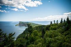 Szenische Ansicht Nationalparks Forillon stockbild