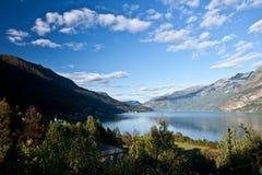 Szenische Ansicht Norwegens - Fjord Stockfotografie