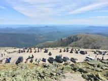 Szenische Ansicht-Spitze schöner Ansicht Berg-Washingtons NH im Juni 2015 vom Gipfel Lizenzfreies Stockbild