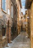 Szenische Ansicht in Urbino, in Stadt und in Welterbestätte in der Marken-Region von Italien stockfoto