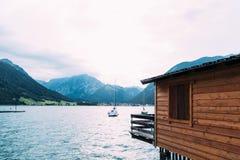 Szenische Ansicht von Achensee See in Österreich Lizenzfreie Stockfotografie