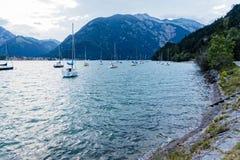 Szenische Ansicht von Achensee See in Österreich Stockfotografie