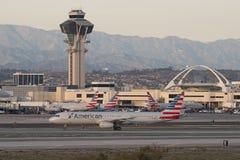 Szenische Ansicht von American Airlines-Jets an LOCKEREM Lizenzfreies Stockfoto