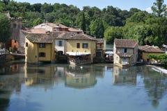 Szenische Ansicht von Borghetto-sul Mincio lizenzfreie stockfotos