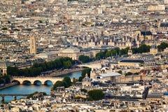 Szenische Ansicht von der Spitze des Eiffelturms Paris, Frankreich Stockfoto