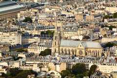 Szenische Ansicht von der Spitze des Eiffelturms Paris, Frankreich Lizenzfreie Stockfotografie