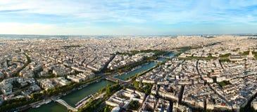 Szenische Ansicht von der Spitze des Eiffelturms Paris, Frankreich Lizenzfreies Stockfoto