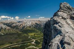 Szenische Ansicht von der Spitze Mt Rundle, Banff NP, Kanada stockfotos