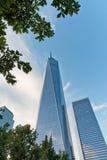 Szenische Ansicht von einem World Trade Center Stockfotos