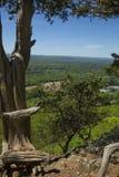 Szenische Ansicht von einer Klippe auf Talcott-Berg in Connecticut lizenzfreies stockbild