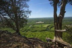 Szenische Ansicht von einer Klippe auf Talcott-Berg in Connecticut lizenzfreie stockfotografie