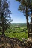 Szenische Ansicht von einer Klippe auf Talcott-Berg in Connecticut stockbilder