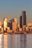 Szenische Ansicht von im Stadtzentrum gelegenem Seattle, Washington. Lizenzfreie Stockfotografie