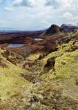 Szenische Ansicht von Quiraing-Bergen lizenzfreies stockfoto