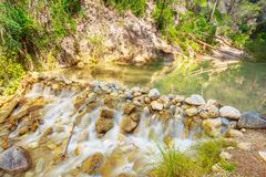 Szenische Ansicht von Rio Chillar River Near Nerja, Màlaga-Region, Spai Lizenzfreies Stockbild