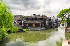 Szenische Ansicht Xitang-Wasser-Stadt-Chinas stockbild