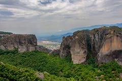 Szenische Ansicht zu Meteora Lizenzfreies Stockbild