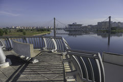 Szenische Ansichtbrückenplattform in Putrajaya Lizenzfreie Stockfotografie
