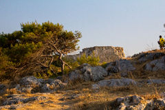 Szenische Ansichten der Festung in der Stadt von Rethymno-Sonnenuntergang Stockfoto