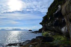 Szenische Ansichten von Bearreraig-Bucht stockfotografie