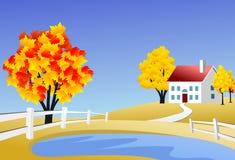 Szenische Bauernhoflandschaft Stockbilder
