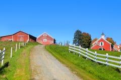 Szenische Bauernhoflandschaft in Vermont Lizenzfreies Stockfoto