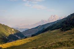 Szenische Berge in Svaneti, Georgia Stockbild