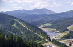 Szenische Berglandschaft Bukovel Stockbilder