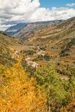 Szenische Berglandschaft im Fall Lizenzfreies Stockbild