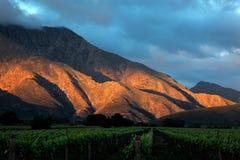 Szenische Berglandschaft - Südafrika stockbilder
