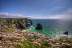 Szenische englische Küstenlinie Stockbilder