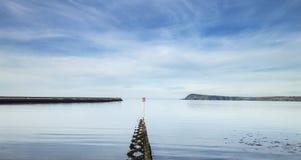 Szenische Fishuard-Bucht bei Ebbe lizenzfreies stockbild