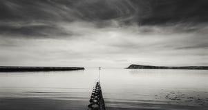 Szenische Fishuard-Bucht bei Ebbe stockbilder