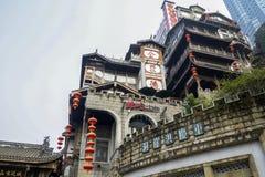 Szenische Gebäude Hongyadong, Chongqing Lizenzfreie Stockfotos