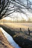 Szenische Landschaft in der Provinz Limburg, die Niederlande Lizenzfreies Stockbild