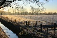 Szenische Landschaft in der Provinz Limburg, die Niederlande Stockbilder