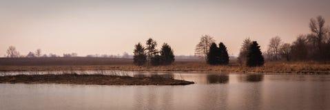 Szenische Landschaft nahe Edwardsville Illinois Stockbild