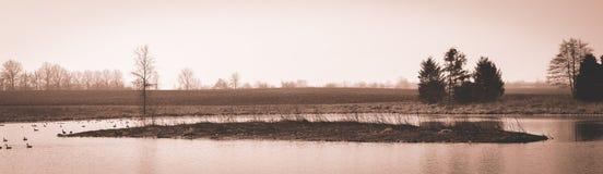 Szenische Landschaft nahe Edwardsville Illinois Stockbilder