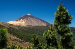 Szenische Landschaft in Nationalpark Teide, Teneriffa, Kanarienvogel stockfoto
