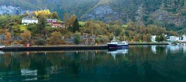 Szenische Landschaften der norwegischen Fjorde Lizenzfreie Stockfotografie