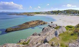 Szenische landwirtschaftliche Landschaft aus Irland Stockbilder
