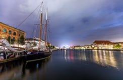 Szenische Sommeransicht der alten Stadt von Kopenhagen, Dänemark Stockfoto