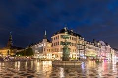 Szenische Sommeransicht der alten Stadt von Kopenhagen, Dänemark Lizenzfreies Stockfoto