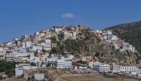 Szenische Stadtaußenseite von Meknes, Marokko lizenzfreies stockbild