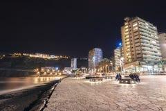 Szenische Stadtbildansicht von Puerto de la Cruz bei nah herein Teneriffa, Spanien Lizenzfreies Stockbild