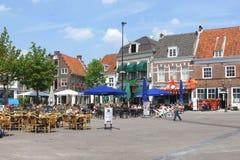 Szenische Terrassen beim Hof in Amersfoort, die Niederlande lizenzfreie stockbilder