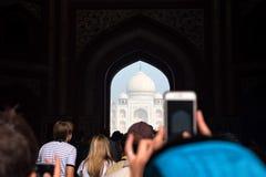 Szenische Toransicht Taj Mahals in Agra, Indien Lizenzfreie Stockfotos